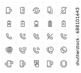mini icon set   phone and...
