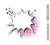 chat bubble icon pop art style