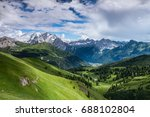 mountains with dramatic cloudy... | Shutterstock . vector #688102804
