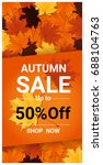 autumn sale banner with... | Shutterstock .eps vector #688104763