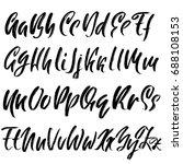 hand drawn dry brush font.... | Shutterstock .eps vector #688108153