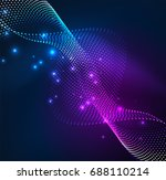 vector wave particles... | Shutterstock .eps vector #688110214