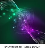 vector wave particles... | Shutterstock .eps vector #688110424