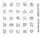 mini icon set   shopping and... | Shutterstock .eps vector #688110790