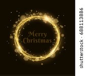 merry christmas. abstract... | Shutterstock .eps vector #688113886