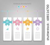 infographics template of four... | Shutterstock .eps vector #688116700
