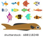 exotic tropical fish race... | Shutterstock .eps vector #688118248