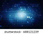 2d illustration abstract... | Shutterstock . vector #688121239