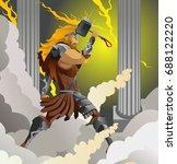 thor norse nordic mythology...   Shutterstock .eps vector #688122220