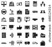 business company icons set.... | Shutterstock .eps vector #688124314