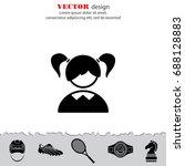web icon. schoolgirl  girl | Shutterstock .eps vector #688128883