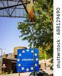 andorra border sign   Shutterstock . vector #688129690