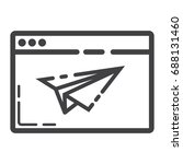 landing page line icon  seo and ...