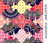 lovely seamless patchwork... | Shutterstock .eps vector #688139530