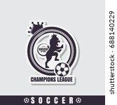 football emblems  sport icons | Shutterstock .eps vector #688140229