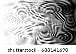 halftone vector background | Shutterstock .eps vector #688141690