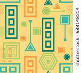 abstract seamless pattern from... | Shutterstock .eps vector #688148254