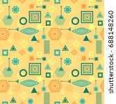 abstract seamless pattern from... | Shutterstock .eps vector #688148260