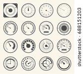 circular meter  collection of... | Shutterstock .eps vector #688151203