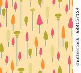 vector seamless pattern of... | Shutterstock .eps vector #688157134