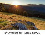 Stock photo sunrise in the mountains 688158928