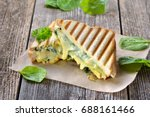 vegetarian pressed double... | Shutterstock . vector #688161466