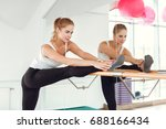 beautiful young slender woman...   Shutterstock . vector #688166434