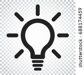 light bulb line icon vector.... | Shutterstock .eps vector #688174459