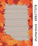 thanksgiving frame. vector... | Shutterstock .eps vector #688177378