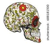 sugar skull. the traditional... | Shutterstock .eps vector #688181500