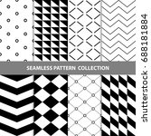 vector abstract geometric... | Shutterstock .eps vector #688181884
