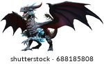 blue dragon 3d illustration | Shutterstock . vector #688185808
