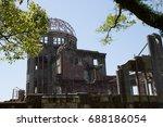 a bomb or atomic bomb memorial...   Shutterstock . vector #688186054