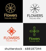 royal flower logo template | Shutterstock .eps vector #688187344