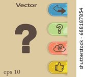flat vector question icon | Shutterstock .eps vector #688187854