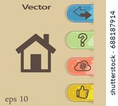 flat vector home icon | Shutterstock .eps vector #688187914