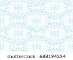 marie antoinette style damask... | Shutterstock .eps vector #688194334