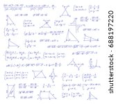 hand drawn mathematical... | Shutterstock .eps vector #688197220