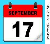 calendar icon vector. calendar... | Shutterstock .eps vector #688198234