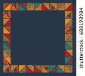 big seamless african boho frame ... | Shutterstock .eps vector #688198984