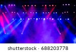 colorful light on an empty... | Shutterstock . vector #688203778