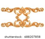 gold ornament on a white... | Shutterstock . vector #688207858