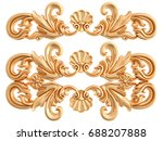 gold ornament on a white... | Shutterstock . vector #688207888