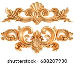 gold ornament on a white... | Shutterstock . vector #688207930