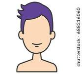 young man shirtless avatar... | Shutterstock .eps vector #688216060