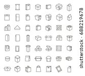 vector package types icon set... | Shutterstock .eps vector #688219678