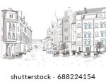 series of street views in the... | Shutterstock .eps vector #688224154