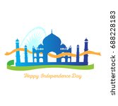 happy indian independence day... | Shutterstock .eps vector #688228183
