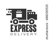 express delivery logo design... | Shutterstock .eps vector #688230520