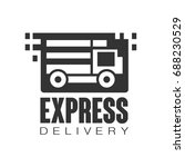 express delivery logo design... | Shutterstock .eps vector #688230529